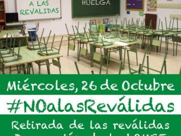 Huelga General en la Educación el próximo 26 de octubre