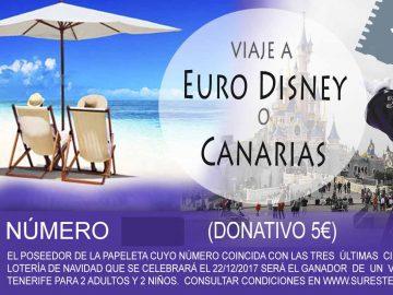 Sorteo de Viaje a Eurodisney o Tenerife